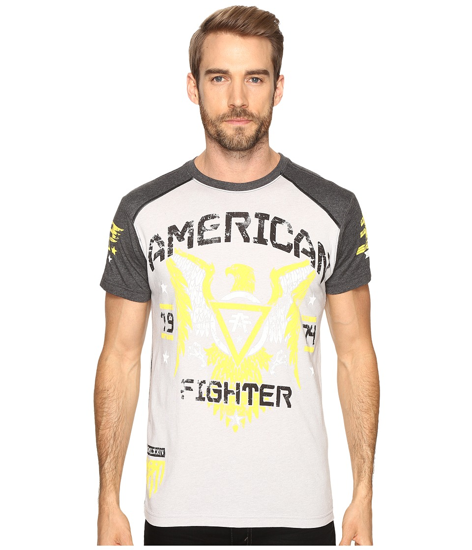Image of American Fighter - Chicago Short Sleeve Tee (Heather Grey/Charcoal) Men's T Shirt