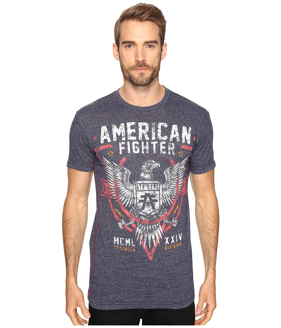 Image of American Fighter - Cortland Short Sleeve Tee (Dress Blue Lava Wash) Men's T Shirt