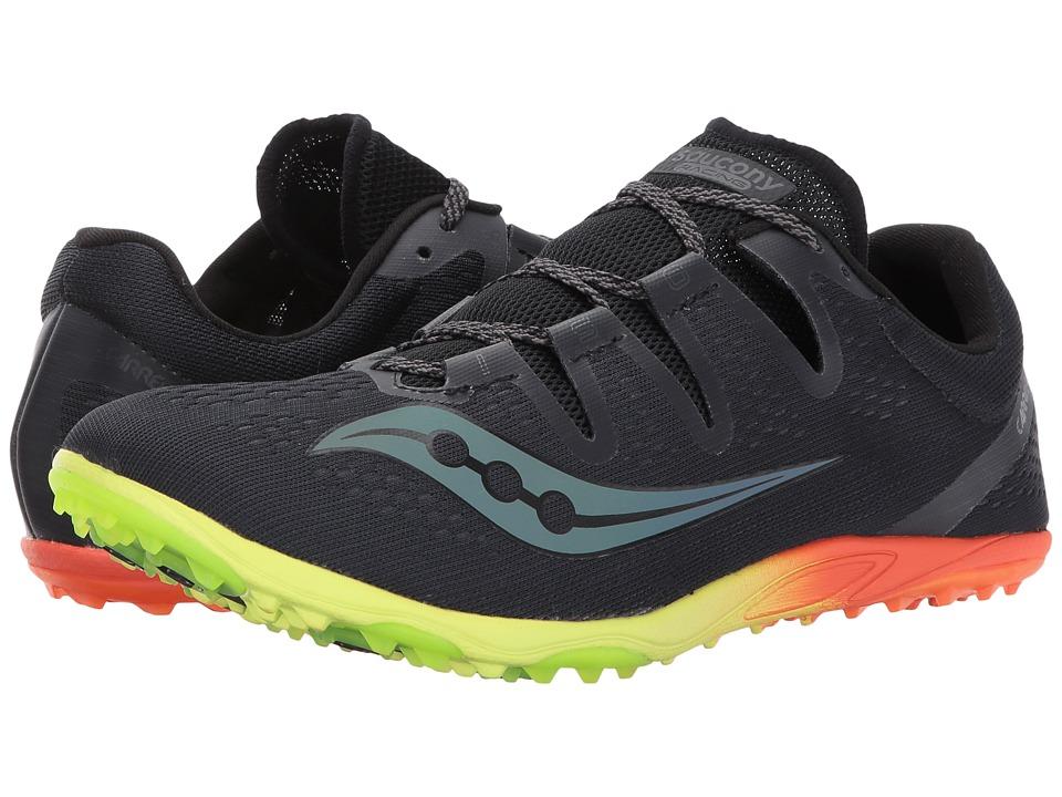 Saucony - Carerra XC3 Flat (Black) Men's Running Shoes