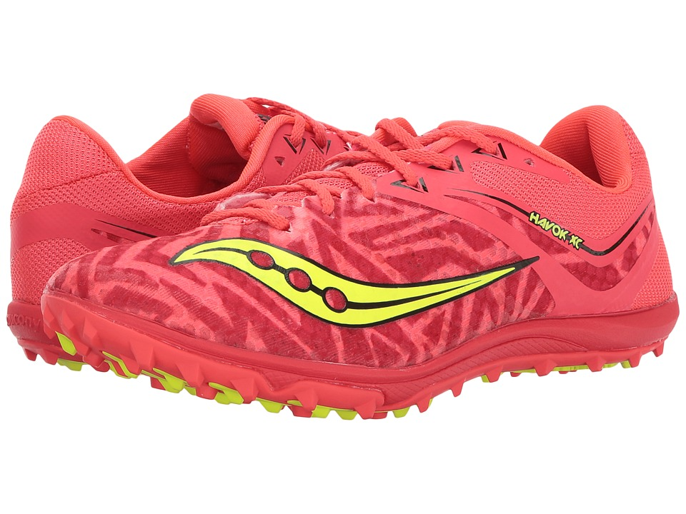 Saucony Havoc XC Flat (Vizi Red/Citron) Women