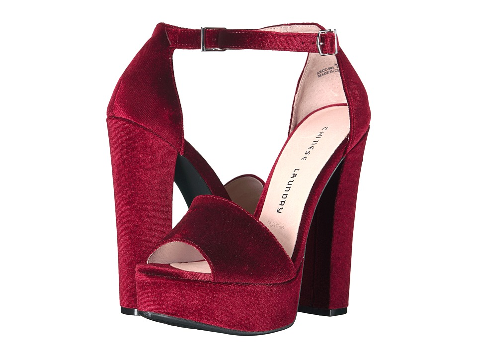 Chinese Laundry Ace (Wine Rich Velvet) High Heels