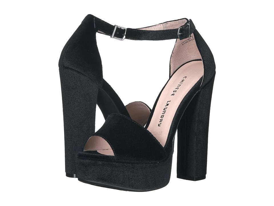 Chinese Laundry Ace (Black Rich Velvet) High Heels