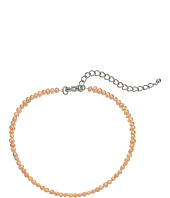 Kenneth Jay Lane - Pink Freshwater Pearl Choker with Rhodium Clasp Necklace