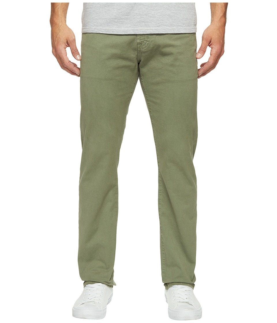 AG Adriano Goldschmied - Matchbox Slim Straight Leg Twill in Sulfur Harvest Olive