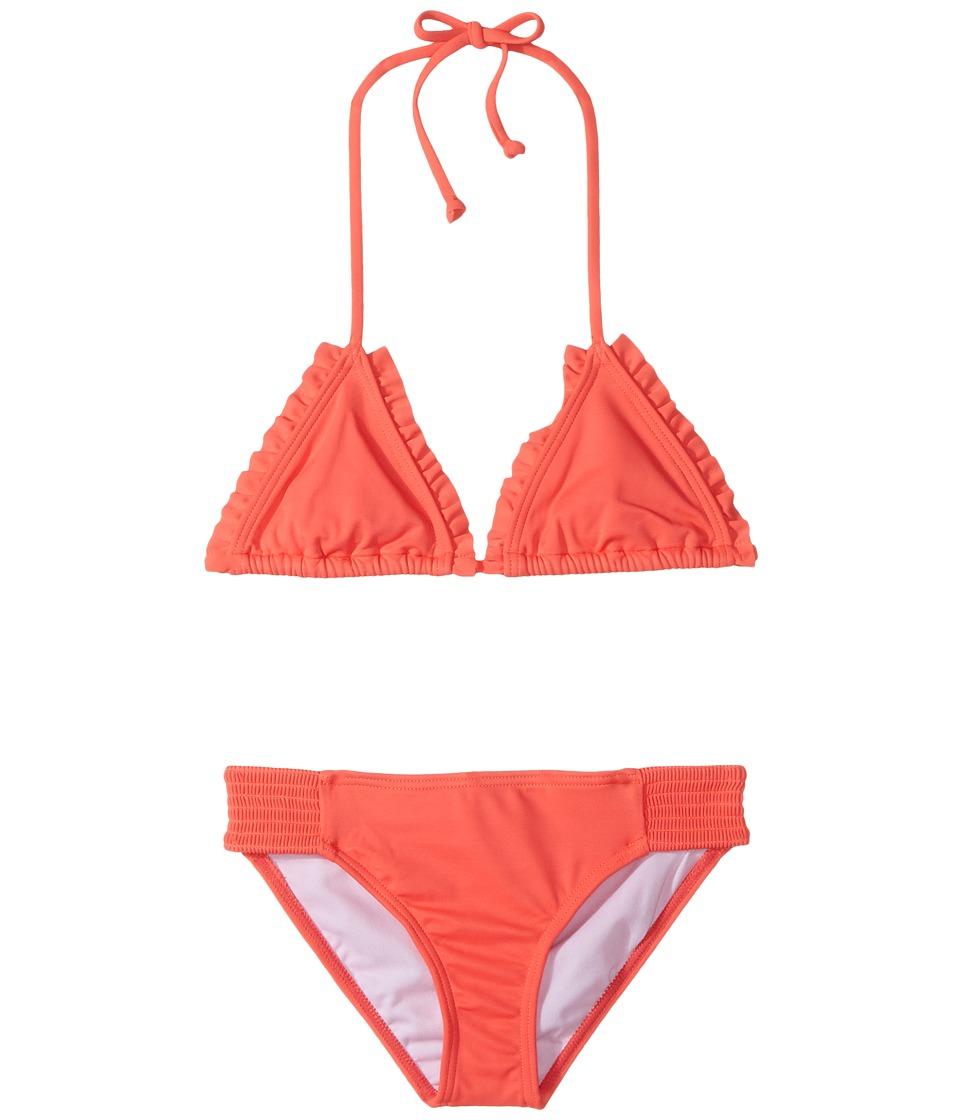 Billabong Kids - Sol Searcher Triangle Set (Little Kids/Big Kids) (Tropicall Punch) Girls Swimwear Sets