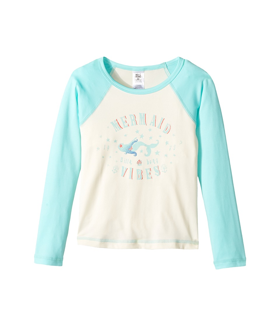 Billabong Kids Sol Searcher Long Sleeve Rashguard (Little Kids/Big Kids) (Seashell) Girl