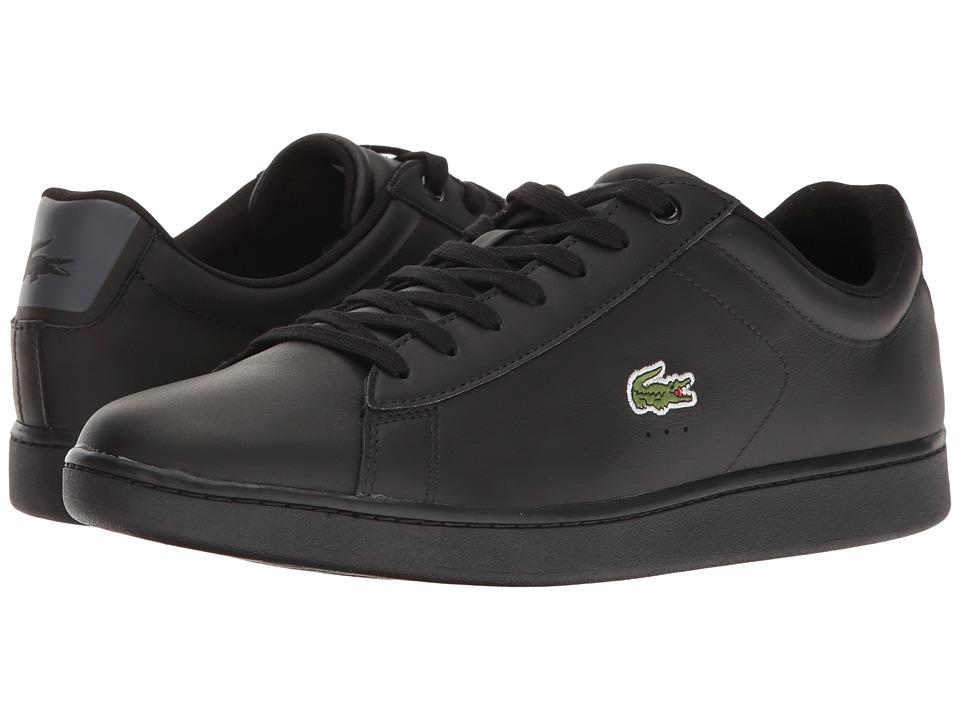 Lacoste Carnaby Evo S216 2 (Black/Dark Grey) Men