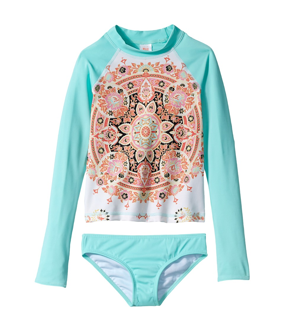 Billabong Kids Groovy Luv Long Sleeve Rashguard Set (Little Kids/Big Kids) (Multi) Girl