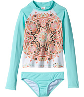 Billabong Kids - Groovy Luv Long Sleeve Rashguard Set (Little Kids/Big Kids)