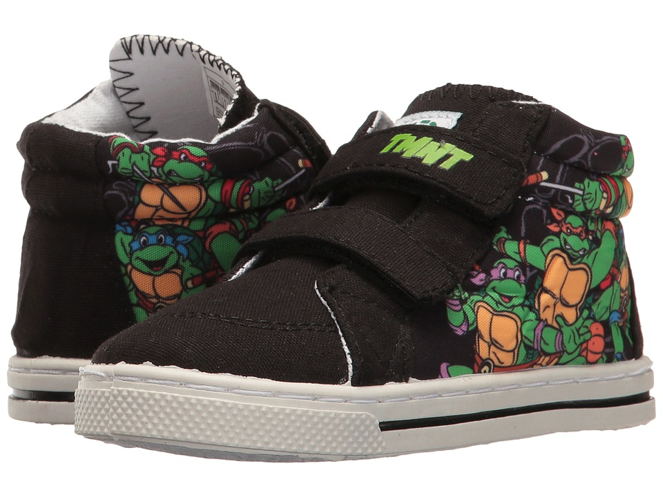 Josmo Kids Ninja Turtles High Top Sneaker (Toddler/Little Kid) (Black) Boy's Shoes