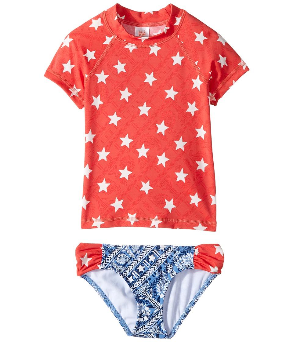 Billabong Kids Starlight Short Sleeve Rashguard Set (Little Kids/Big Kids) (Multi) Girl