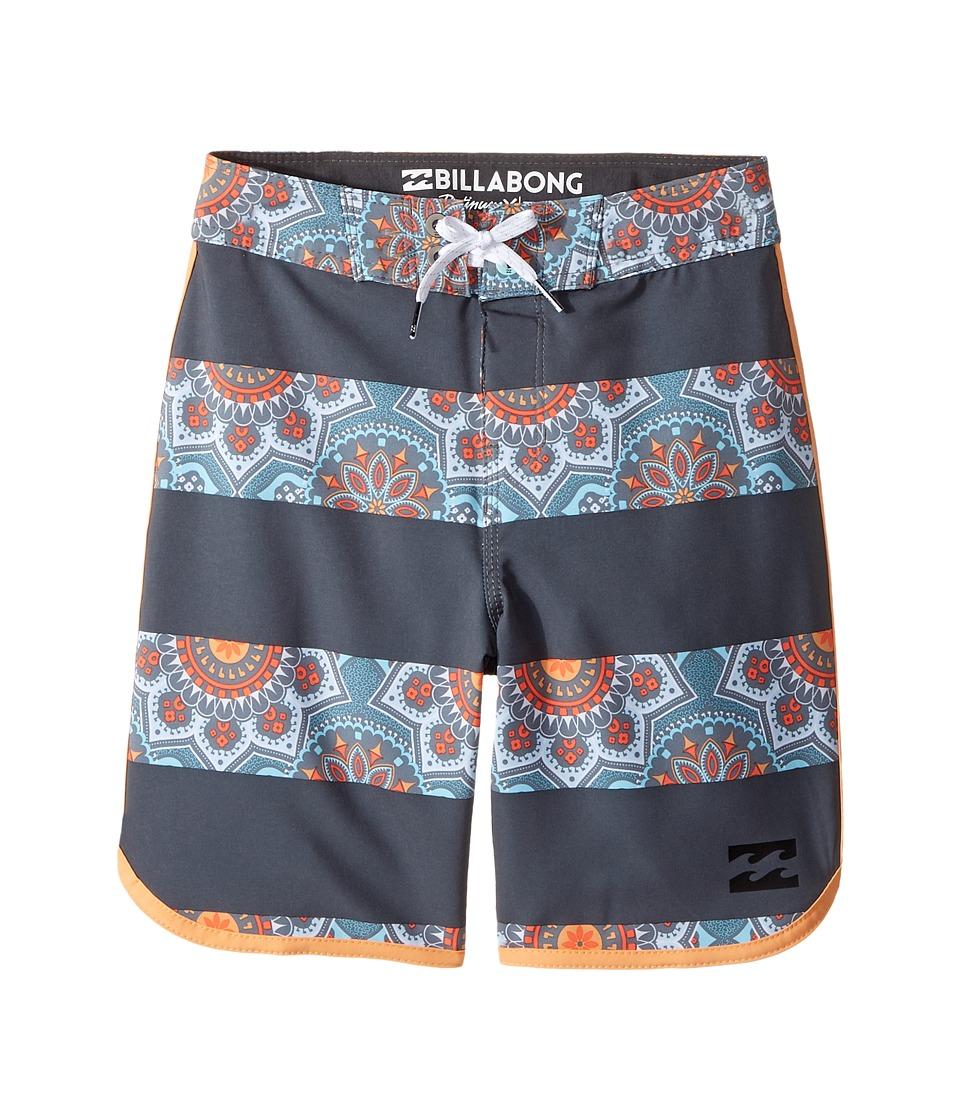 Billabong Kids 73 X Lineup Boardshorts (Big Kids) (Charcoal) Boy