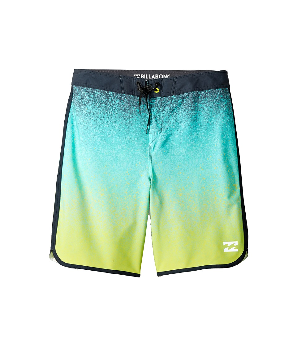 Billabong Kids 73 X Lineup Boardshorts (Big Kids) (Lime) Boy