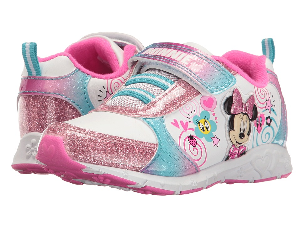 Josmo Kids Minnie Sparkle Sneaker (Toddler/Little Kid) (White/Multi) Girl's Shoes