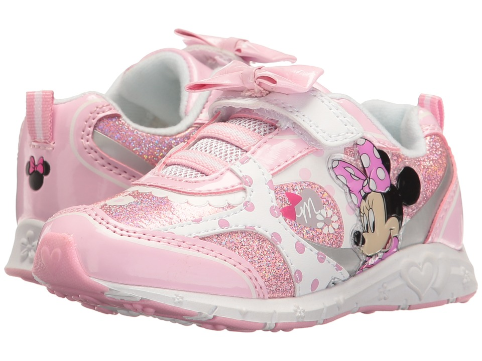 Josmo Kids Minnie Bow Sneaker (Toddler/Little Kid) (Pink/White) Girl's Shoes