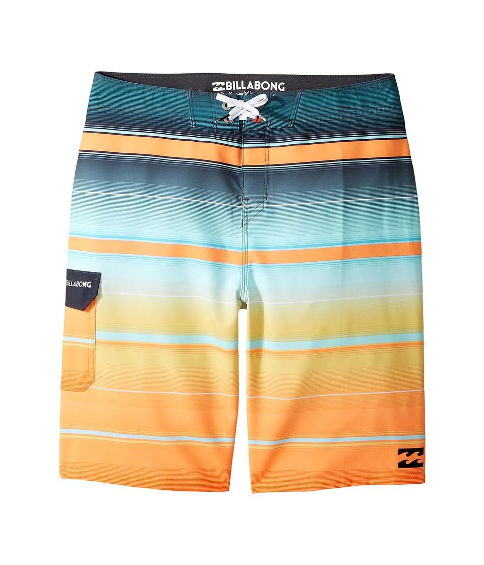 Billabong Kids All Day X Stripe Boardshorts (Big Kids) (Tangerine) Boy