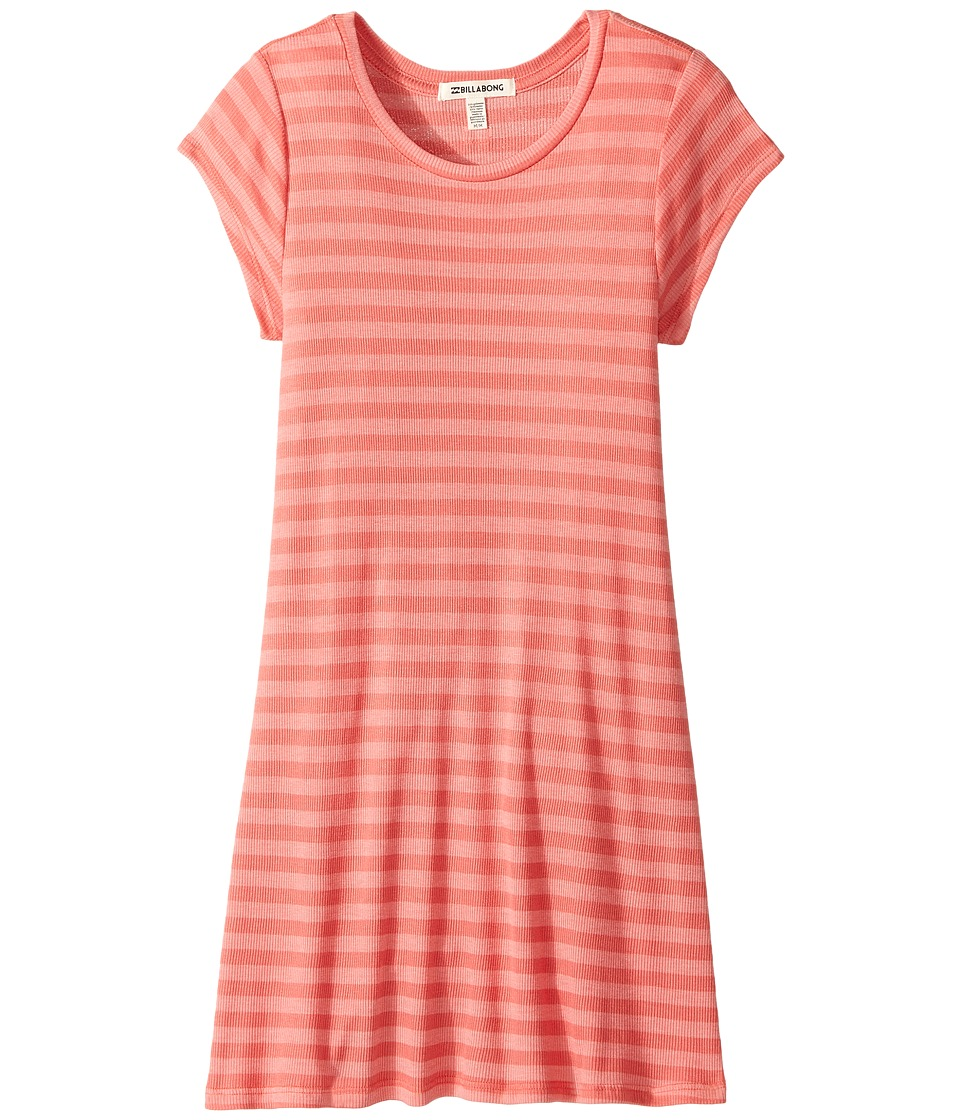 Billabong Kids Stand Off Dress (Little Kids/Big Kids) (Vintage Coral) Girl