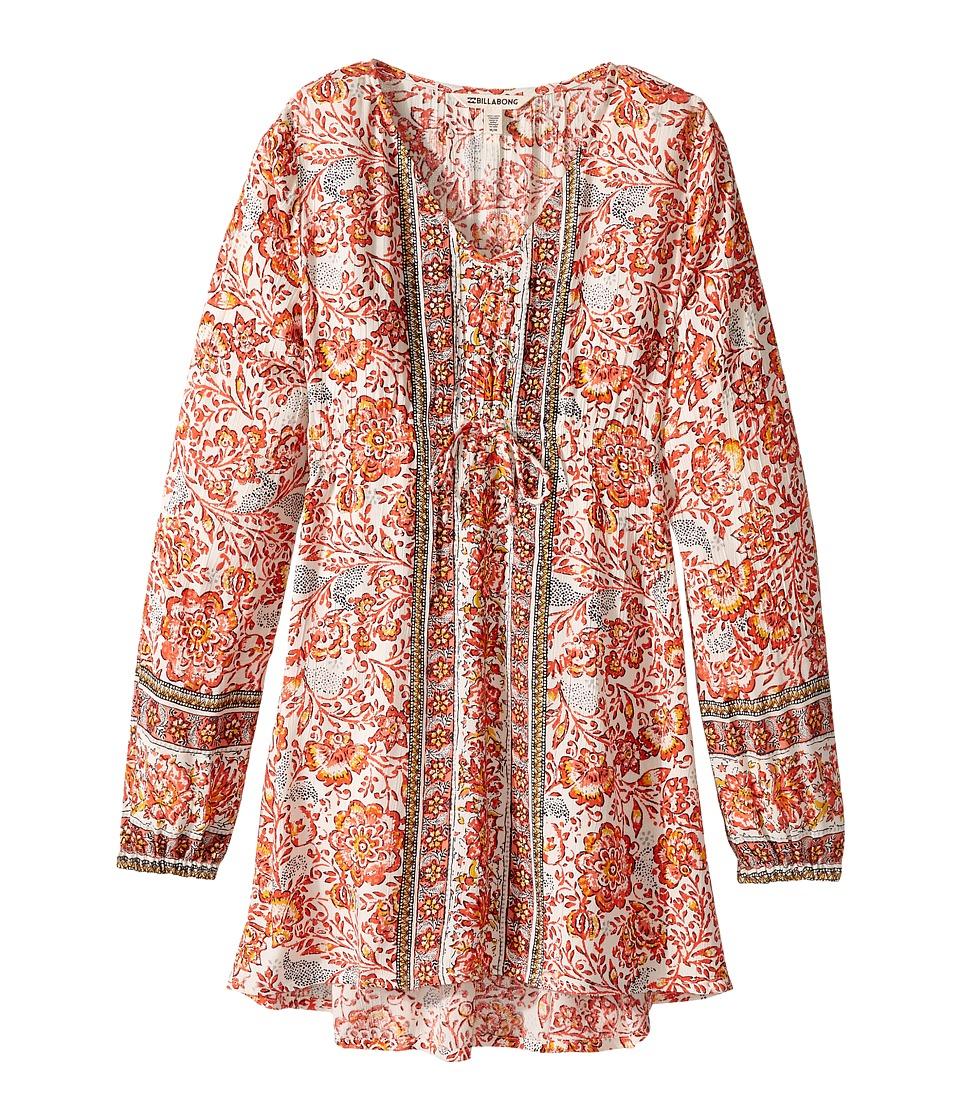 Billabong Kids Another Song Dress (Little Kids/Big Kids) (Vintage Coral) Girl