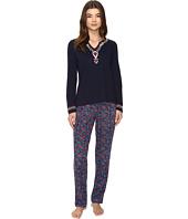 Lucky Brand - Embellished Knit PJ Set