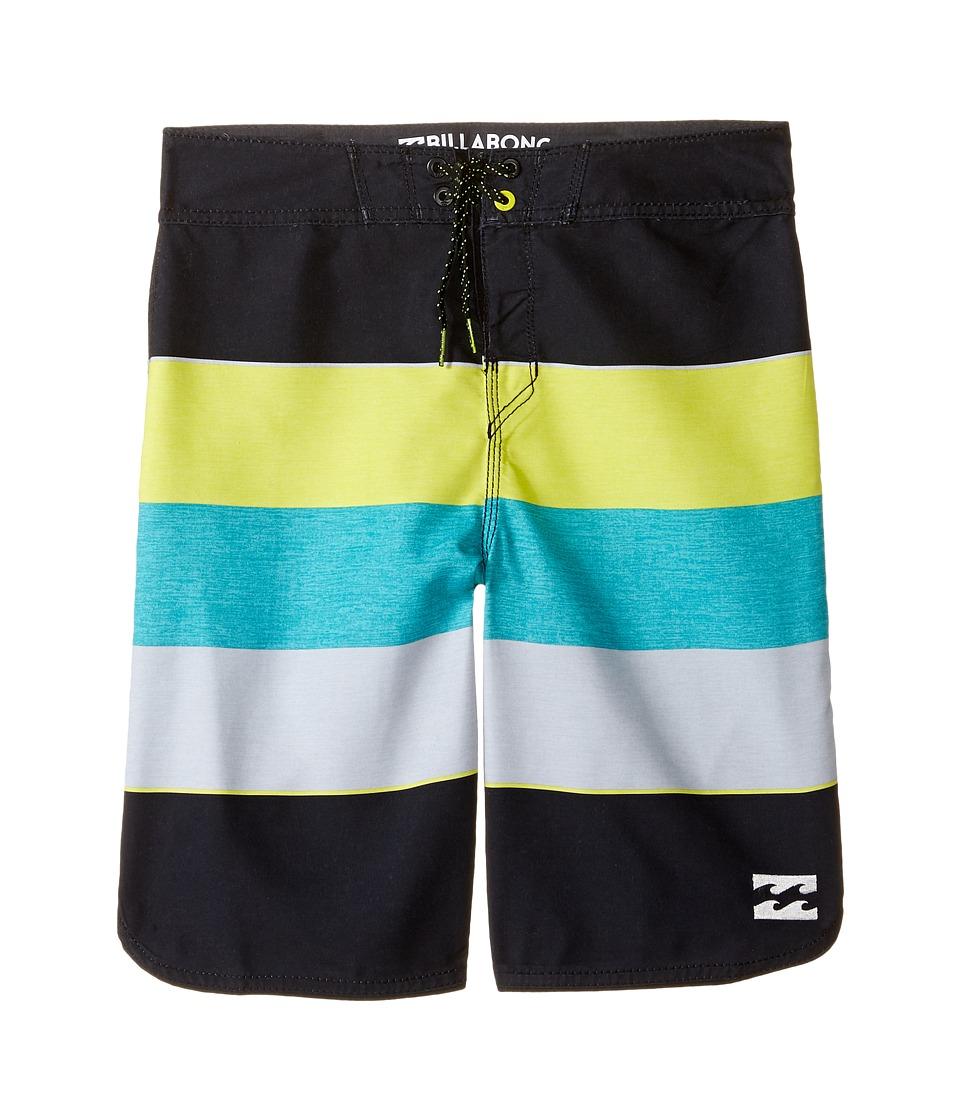Billabong Kids 73 OG Stripe Boardshorts (Big Kids) (Lime) Boy