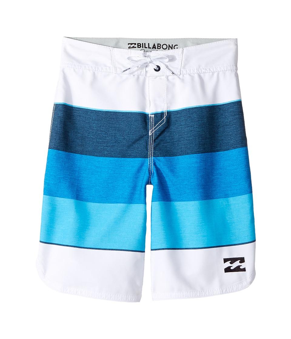 Billabong Kids 73 OG Stripe Boardshorts (Big Kids) (White) Boy