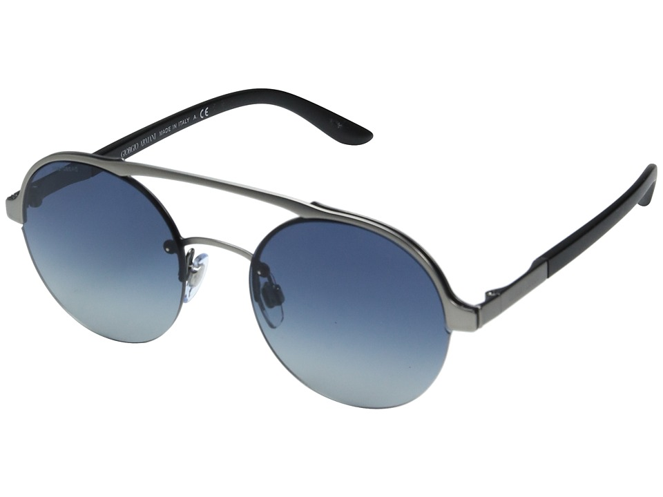 Giorgio Armani - 0AR6045 (Matte Gunmetal/Light Grey Gradient) Fashion Sunglasses
