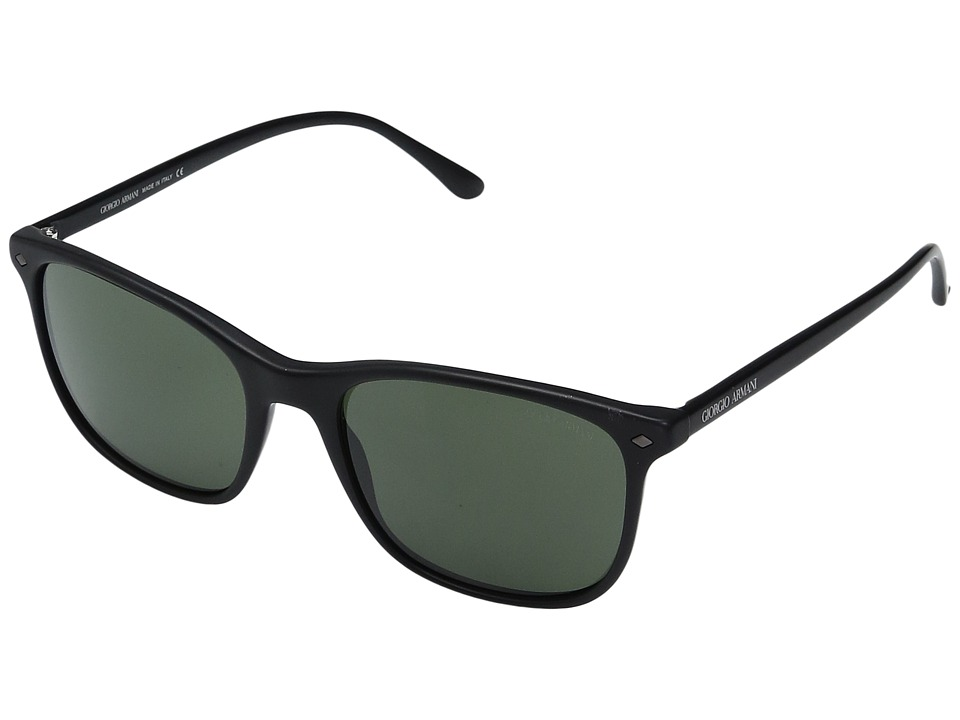 Giorgio Armani - 0AR8089 (Matte Black/Crystal Green) Fashion Sunglasses
