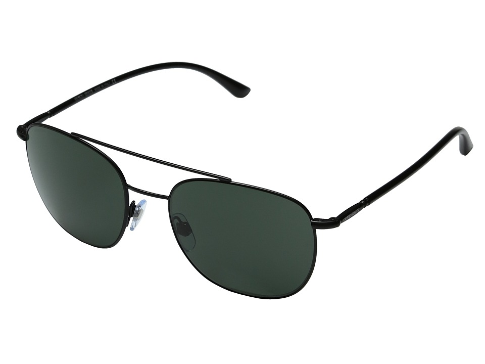 Giorgio Armani - 0AR6042 (Matte Black/Grey Green) Fashion Sunglasses