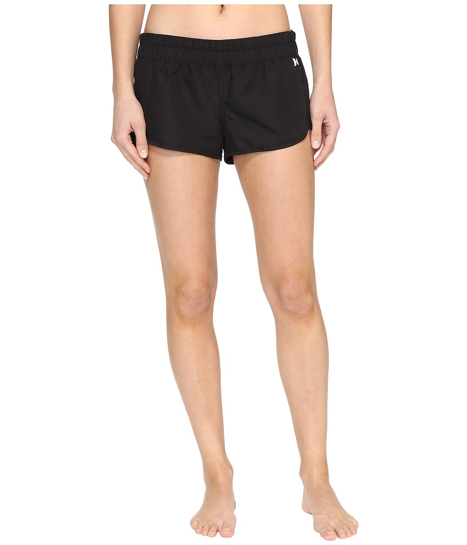Hurley Supersuede Solid Beachrider Bottoms (Black) Women