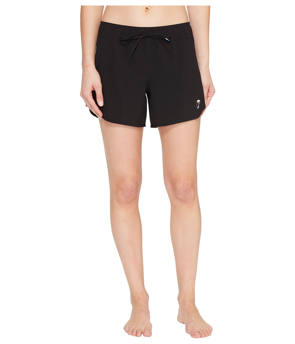 Hurley Phantom Solid 5 Boardshorts (Black) Women