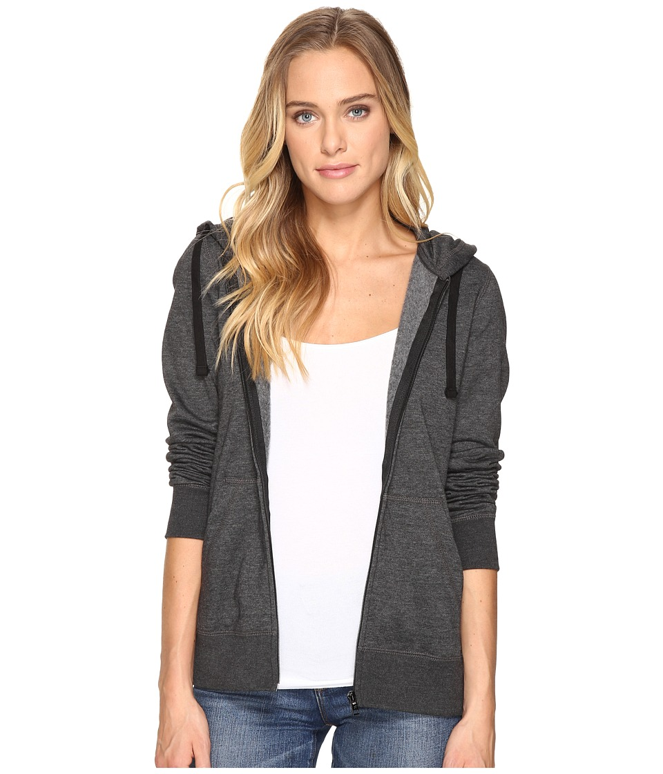 Hurley Solid Icon Zip Fleece (Black Heather) Women