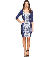 Sangria - Scuba Print Dress
