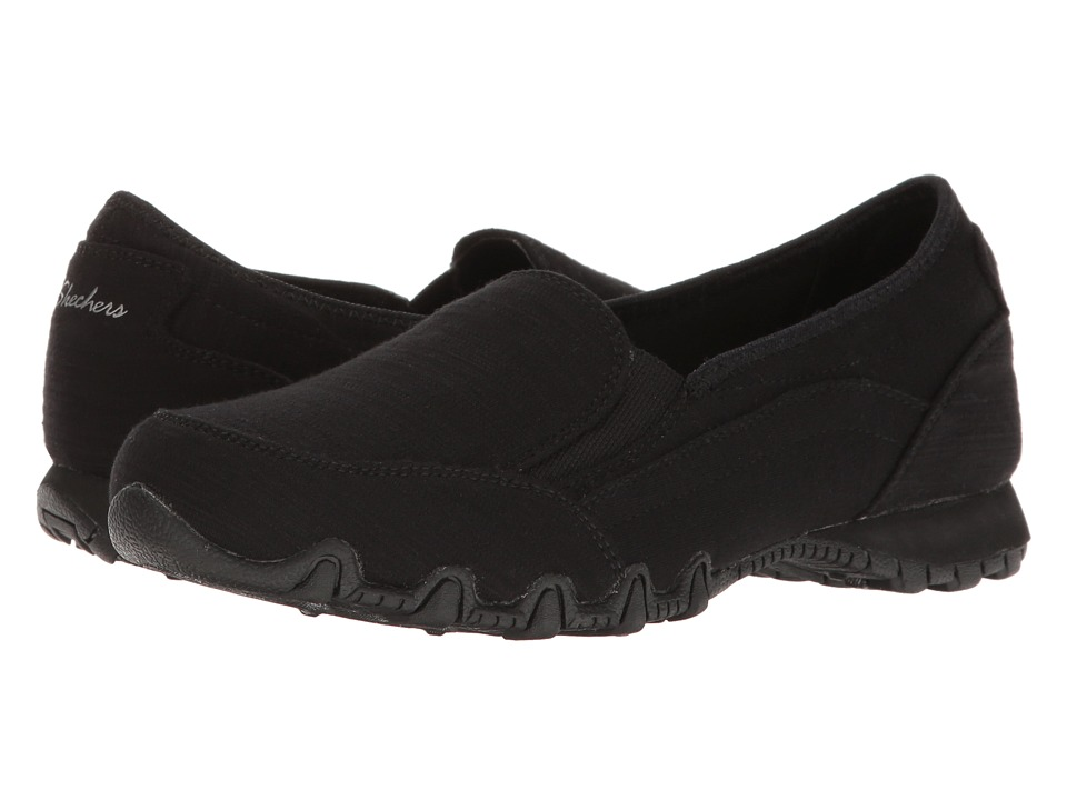 SKECHERS Bikers Lounger (Black) Women