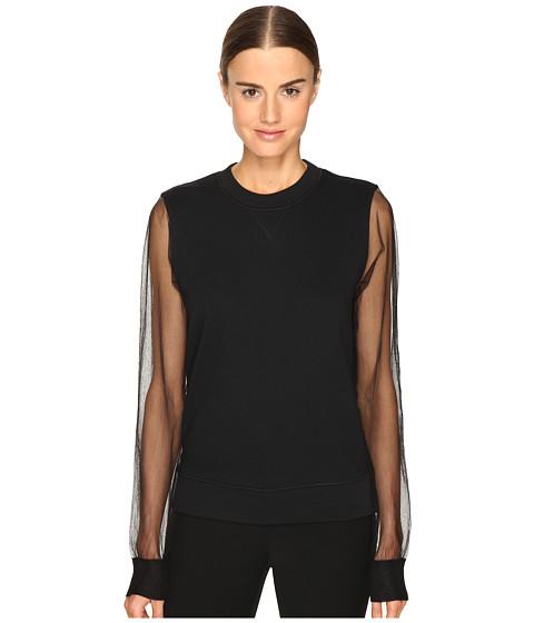 Sportmax Tullia Sheer Sleeve Top - Nero