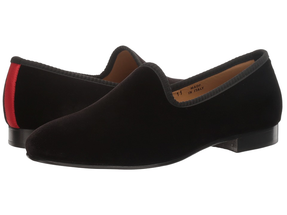 Del Toro - Prince Loafer (Black Velvet) Mens Slip on  Shoes