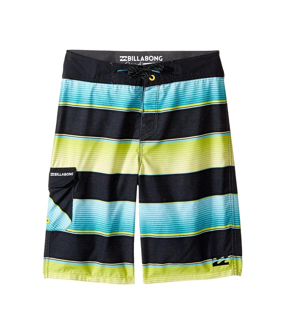 Billabong Kids All Day OG Stripe Boardshorts (Big Kids) (Aqua) Boy