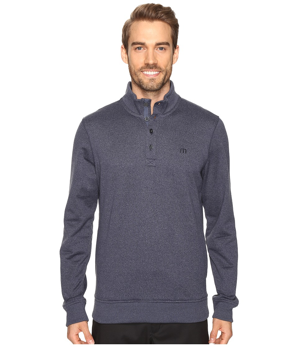 TravisMathew Wall Sweater (Iris/Vintage Indigo) Men