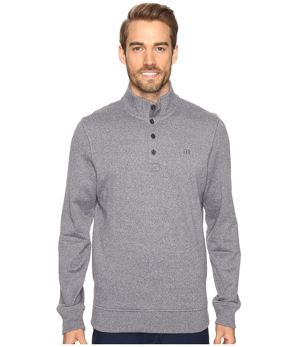 TravisMathew Wall Sweater (Quiet Shade/White) Men