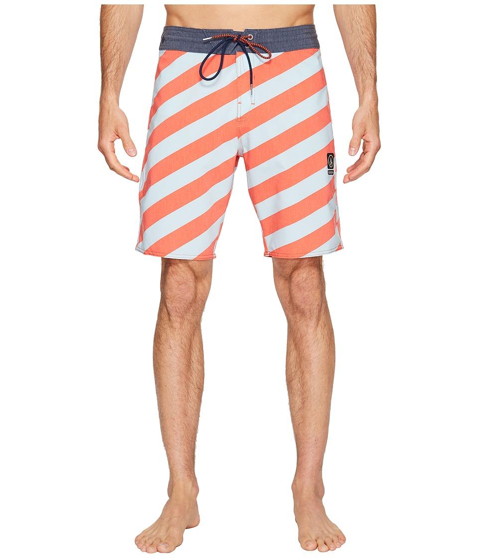 Volcom Stripey Slinger 19 Boardshorts (Bright Orange) Men