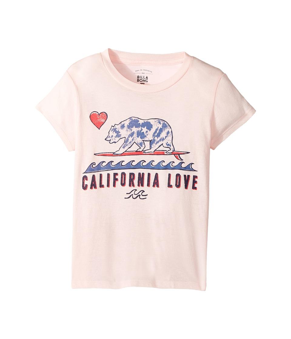 Billabong Kids Cali Love and Stars Tee (Little Kids/Big Kids) (Shell Pink) Girl