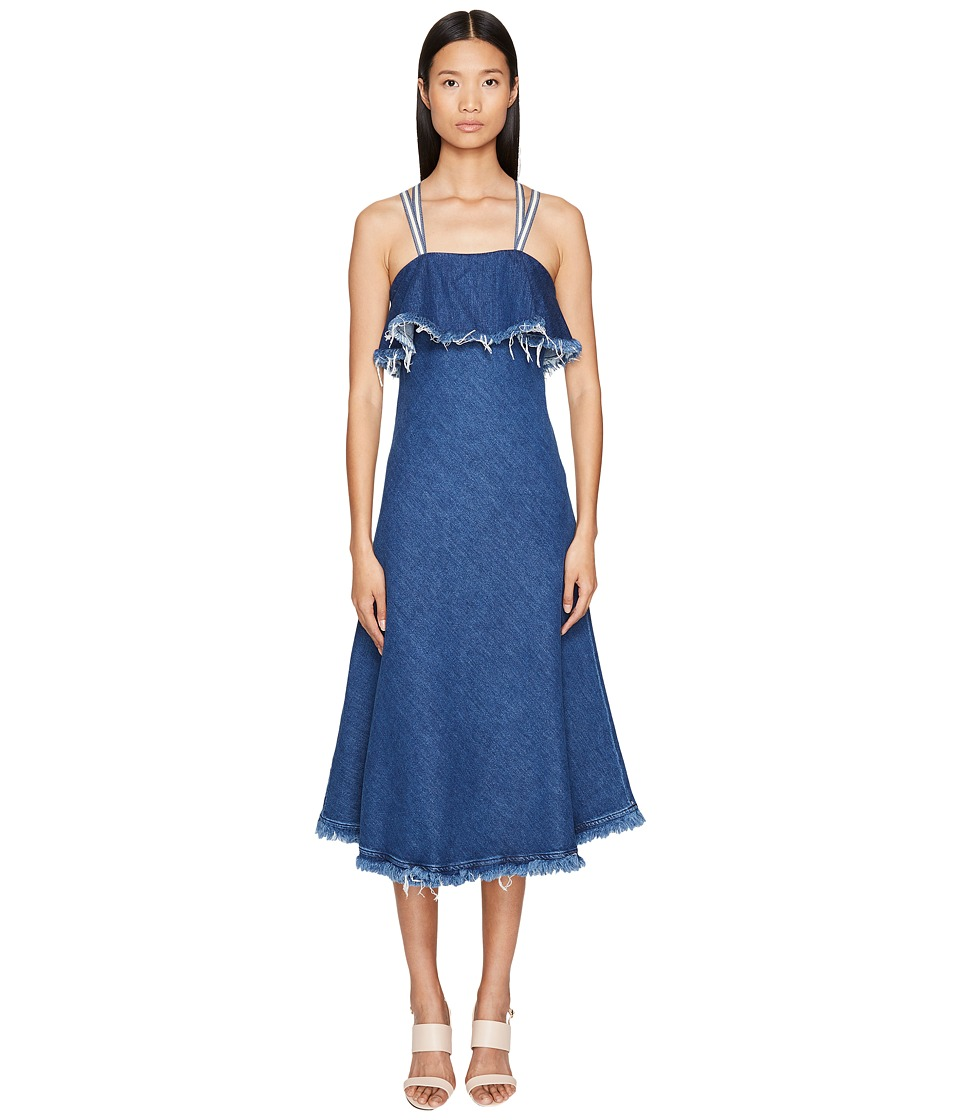 Sportmax Sportmax - Dorina Long Sleeveless Denim Dress
