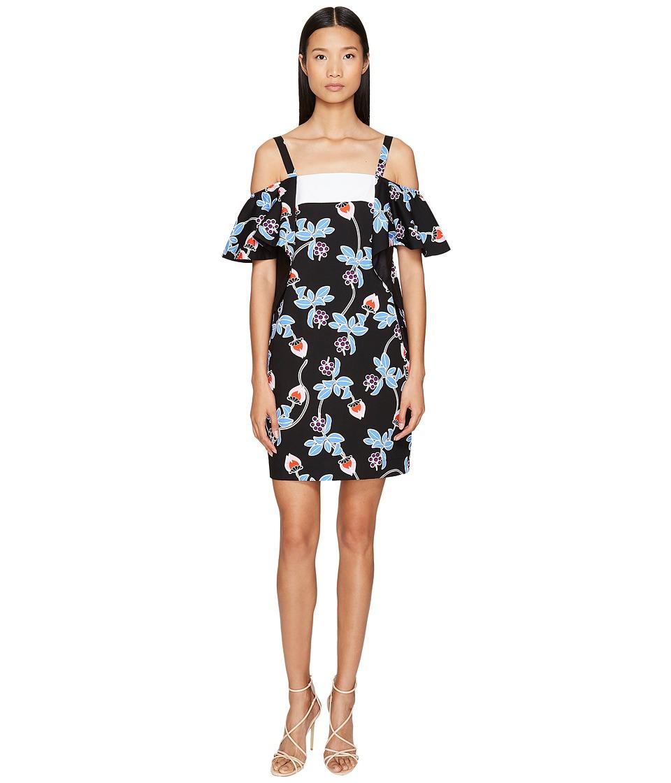 Sportmax - Marocco Strapless Floral Ruffle Dress