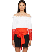 Sportmax - Samaria Off the Shoulder Long Sleeve Top