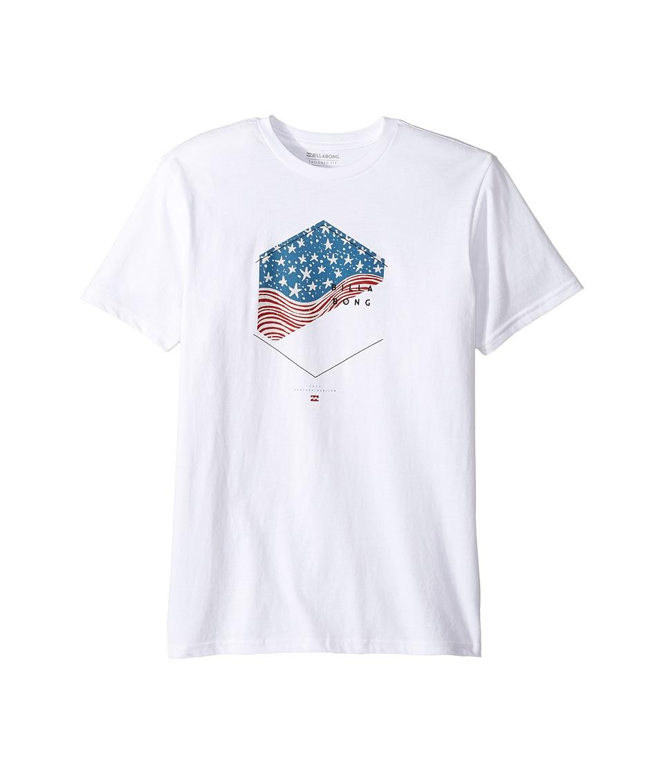 Billabong Kids Enter T-Shirt (Big Kids) (White) Boy