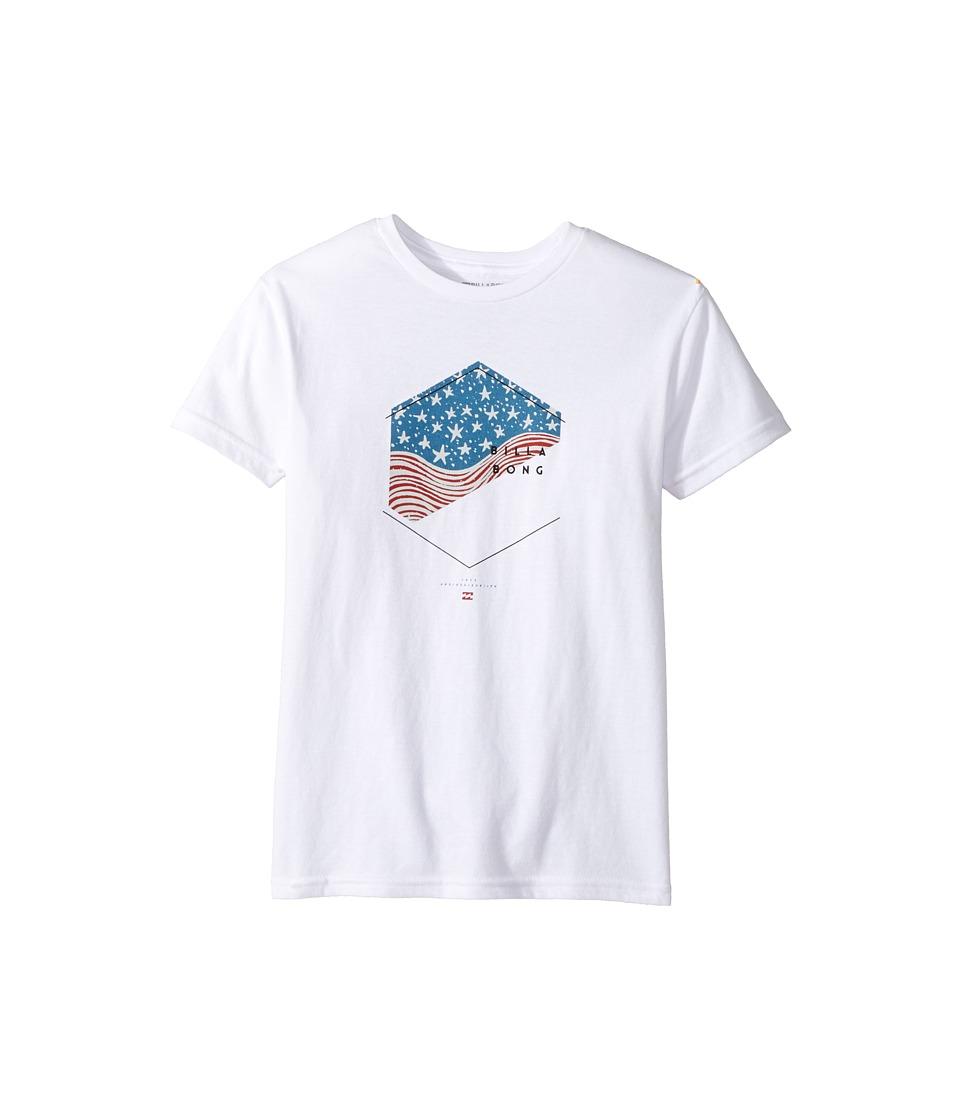 Billabong Kids Enter T-Shirt (Toddler/Little Kids) (White) Boy