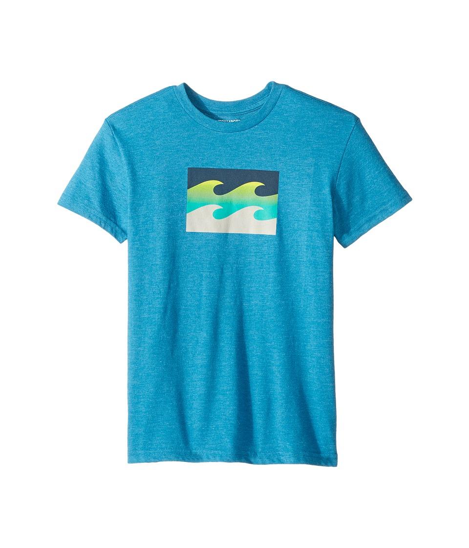 Billabong Kids Team Wave T-Shirt (Big Kids) (Ocean Heather) Boy