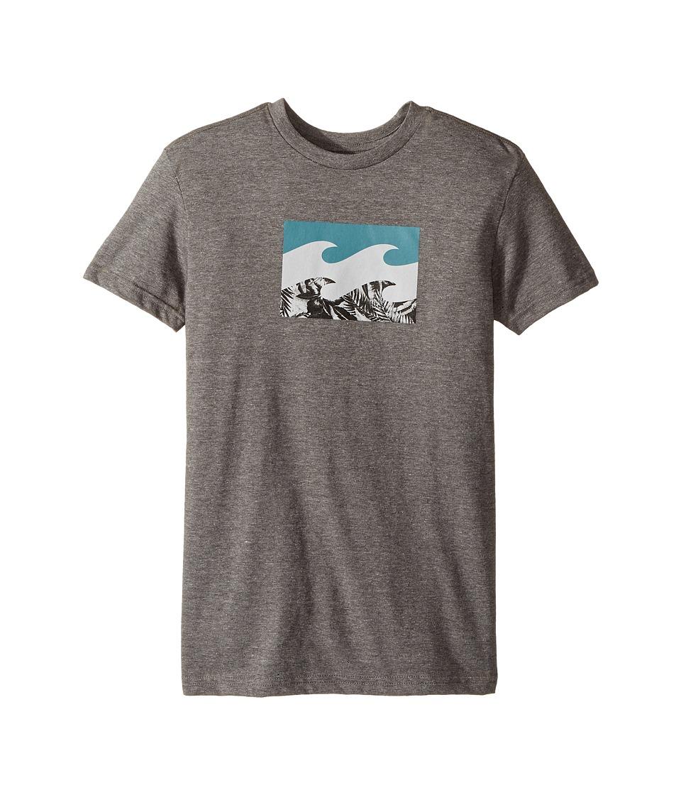 Billabong Kids Team Wave T-Shirt (Big Kids) (Dark Grey Heather) Boy