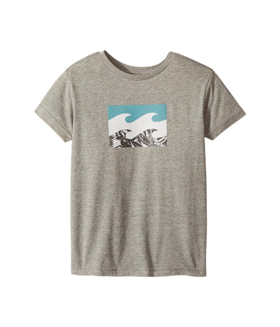 Billabong Kids Team Wave T-Shirt (Toddler/Little Kids) (Dark Grey Heather) Boy