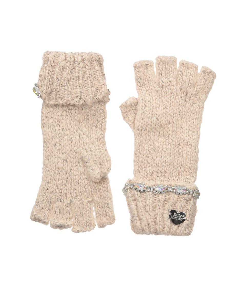 Betsey Johnson On the Rocks Half Finger Gloves (Blush) Dress Gloves