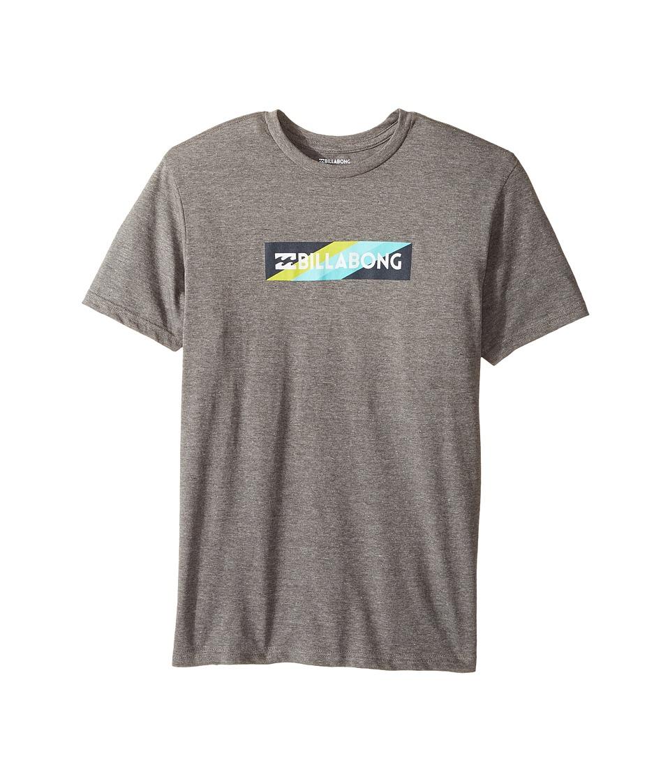 Billabong Kids Unity Block T-Shirt (Big Kids) (Dark Grey Heather) Boy